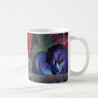 Red And Blue Horse By Marc Franz Mug