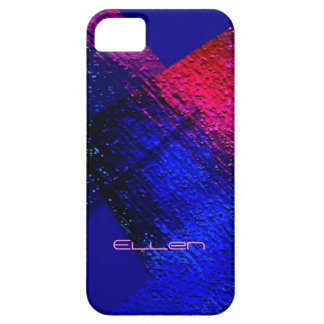 Red and Blue iPhone 5 cover for Ellen