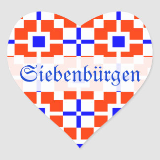 Red and Blue, its Saxonian Heart Sticker