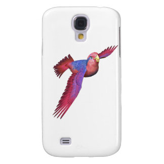 Red and Blue Lory Samsung Galaxy S4 Covers