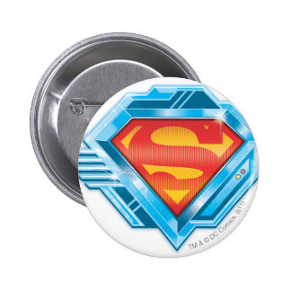Red and Blue Metal Logo 2 Inch Round Button