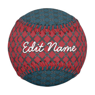 Red and Blue Metal Mesh Baseball