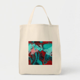 red and blue mix looks like blood and ice tote bag