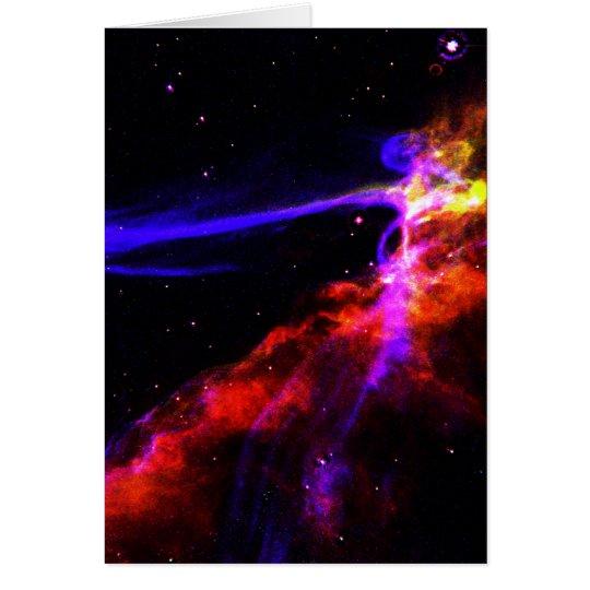 Red and Blue Nebula Card