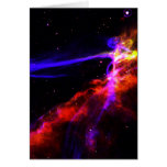 Red and Blue Nebula Greeting Card