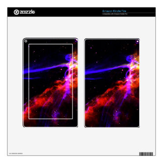 Red and Blue Nebula Kindle Fire Decal