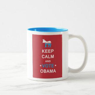 Red and Blue Obama 2012 Mug