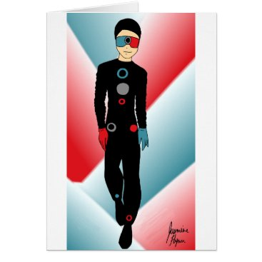 jasmineflynn Red and Blue Outfit Card