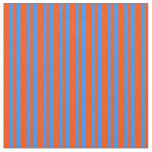 [ Thumbnail: Red and Blue Pattern Fabric ]