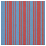 [ Thumbnail: Red and Blue Pattern of Stripes Fabric ]