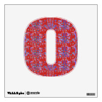 Red and Blue Pattern Wall Sticker