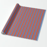 [ Thumbnail: Red and Blue Pattern Wrapping Paper ]