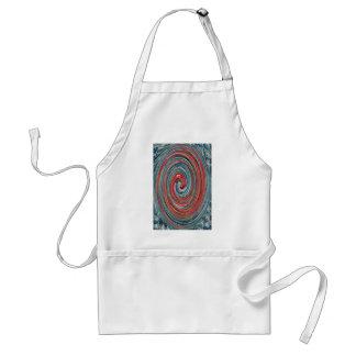 Red and blue paua pohutukawa swirl adult apron