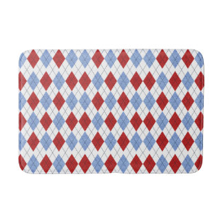 Red and Blue Plaid Bath Mat