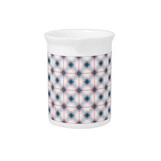 Red and Blue Plaid Drink Pitcher