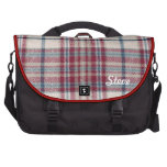 Red and blue plaid laptop bag