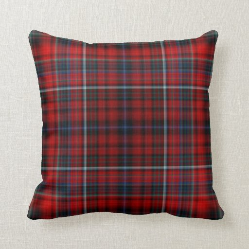 red plaid throw pillow zazzle