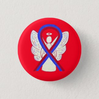Congenital heart defect chd awareness ribbon awareness gallery art red and blue ribbon awareness angel button pins biocorpaavc