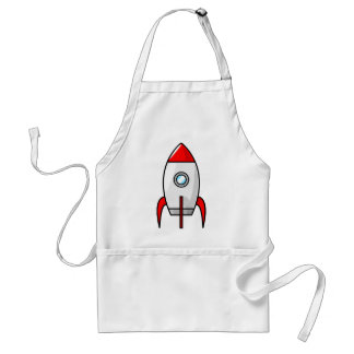 Red and Blue Rockets Adult Apron