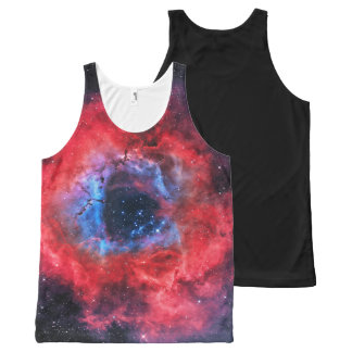 Red and Blue Rosette Nebula All-Over Print Tank Top
