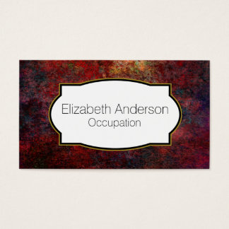 Red and Blue Rusty Metallic Effect Abstract Business Card