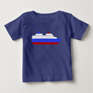 red and blue sea ship baby T-Shirt