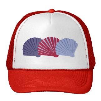 Red and Blue Seashells Trucker Hat