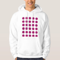 Red and Blue Soccer Ball Pattern Hoodie