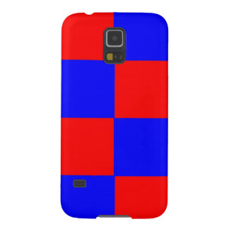 Red and Blue Squares Galaxy S5 Covers