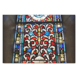 Red and Blue Stained Glass Tissue Paper
