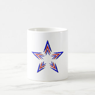red and blue star coffee mug