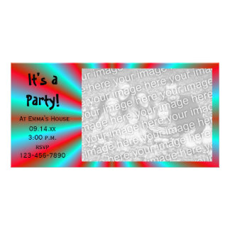 Red and Blue Star Party Invitation Photo Card