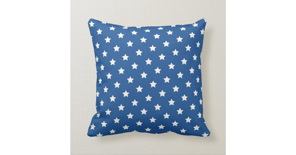 Red and Blue Star Throw Pillow Zazzle