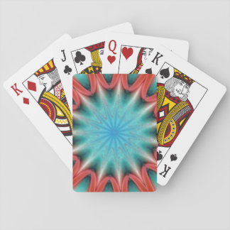 Red and Blue Starburst Playing Cards