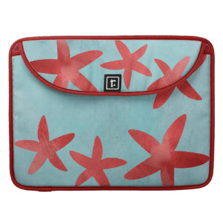 Red and Blue Starfish Sleeve For MacBooks