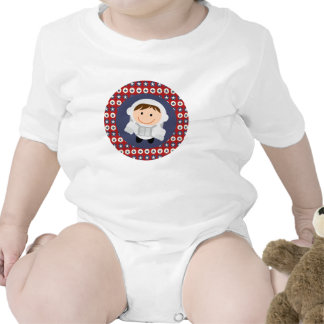 Red and Blue Stars Astronaut Infant Creeper