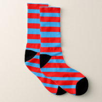 Red and Blue stripe pattern Socks