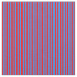 [ Thumbnail: Red and Blue Striped Pattern Fabric ]