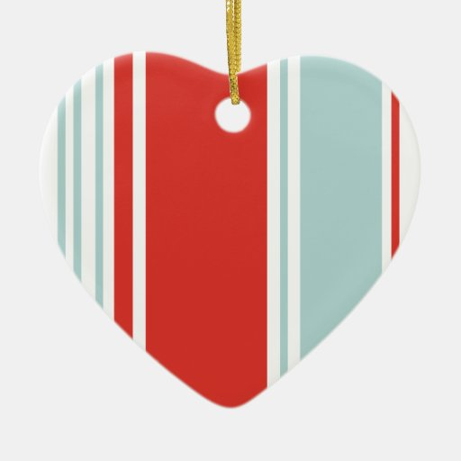 Red and Blue Stripes Ornament