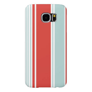 Red and Blue Stripes Samsung Galaxy S6 Cases