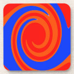 Red and Blue Swirl Coasters
