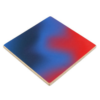 Red and Blue Swirl Pattern Wood Coasters