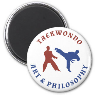 Red and Blue Taekwondo Magnet
