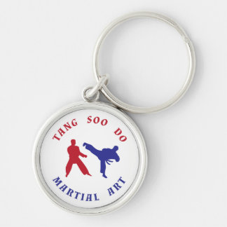 Red and Blue Tang Soo Do Keychain