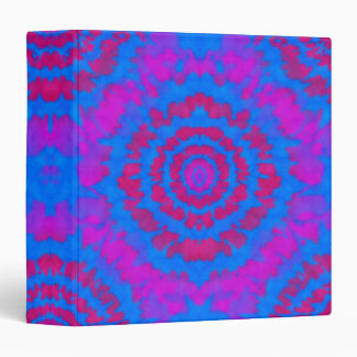 Red and Blue Tie Dye Binder