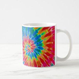 Red and Blue Tie Dye Mug