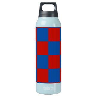 Red and Blue Tiles Insulated Water Bottle