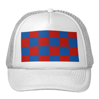 Red and Blue Tiles Trucker Hat