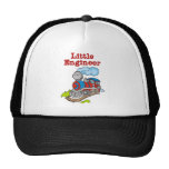 Red and Blue Train Little Engineer Mesh Hats