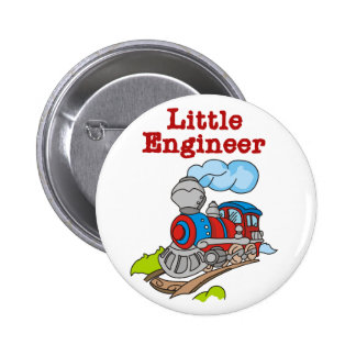 Red and Blue Train Little Engineer Pinback Button